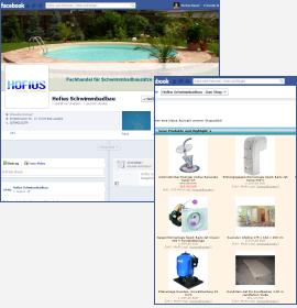 facebook Seite für Hofius Schwimmbadbau