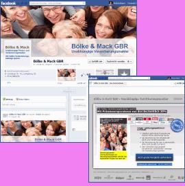 facebook Seite für Bölke & Mack