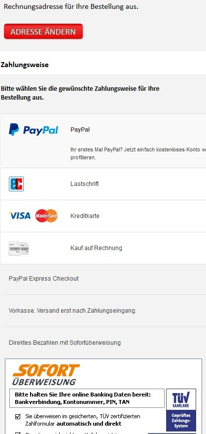 PayPal Plus osCommerce Shop