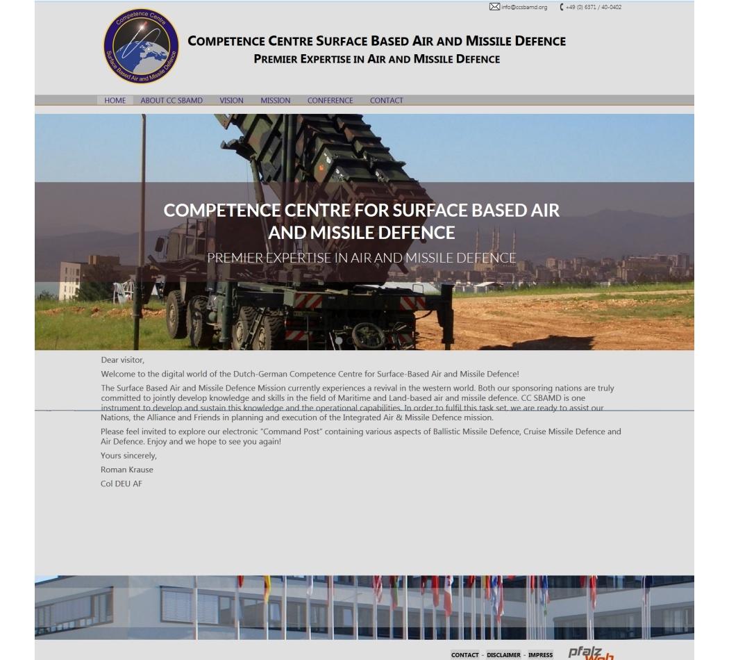 Webdesign f�r die NATO Ramstein